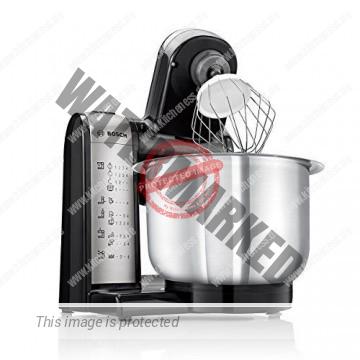 Bosch MUM48A1 Küchenmaschine MUM4 (600 Watt, 3.9 Liter, Edelstahl-Rührschüssel, Durchlaufschnitzler, Rezept DVD) schwarz - 2