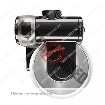 Bosch MUM48A1 Küchenmaschine MUM4 (600 Watt, 3.9 Liter, Edelstahl-Rührschüssel, Durchlaufschnitzler, Rezept DVD) schwarz - 3