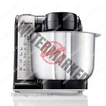 Bosch MUM48A1 Küchenmaschine MUM4 (600 Watt, 3.9 Liter, Edelstahl-Rührschüssel, Durchlaufschnitzler, Rezept DVD) schwarz - 4