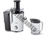 Bosch MES25A0 Entsafter VitaJuice 2 700 W, XL-Einfüllschacht, Edelstahl-Microfilter-Sieb, Ausgießer mit DripStop, weiß/anthrazit
