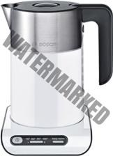 Bosch TWK8611P Wasserkocher Styline mit Edelstahlapplikation, 2400 W, für 1,5 L Wasser, athrazit/weiß