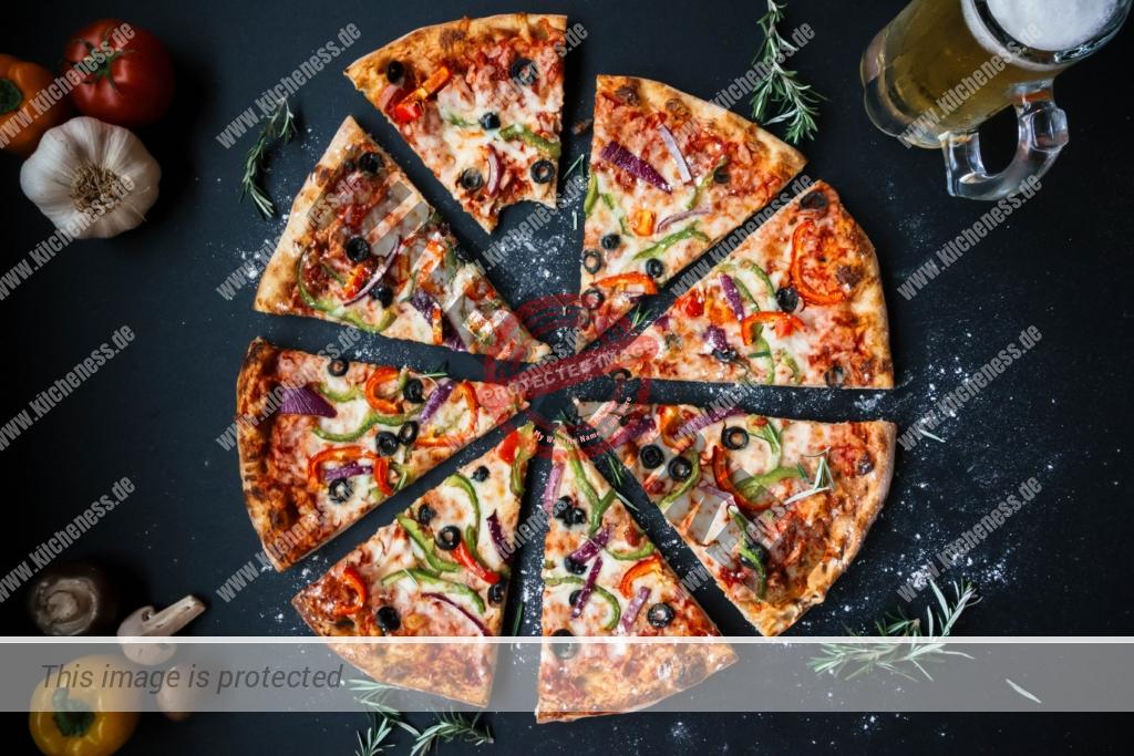Pizza zum Mittag