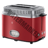 Russell Hobbs 21680-56 Toaster Retro Ribbon Red