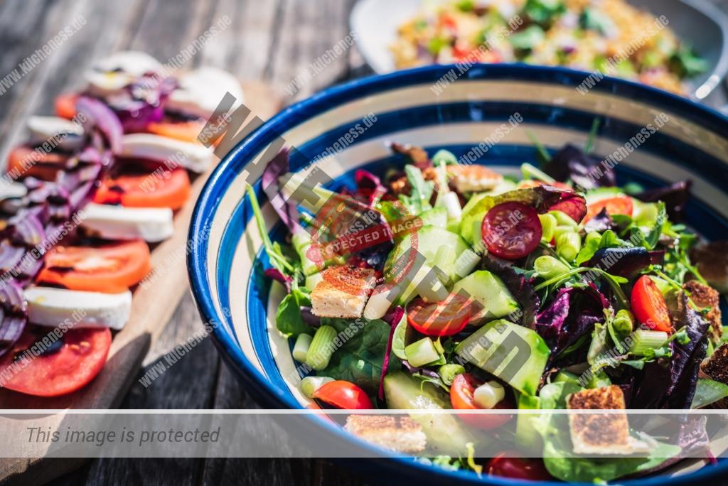 Salat zum Mittagessen