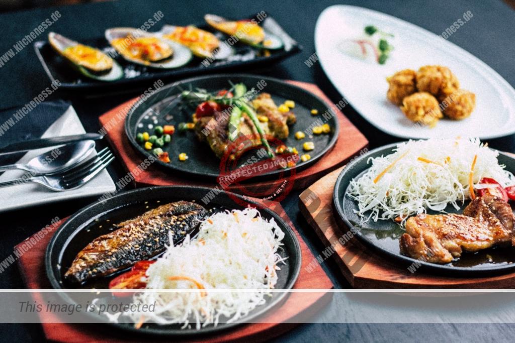Teriyaki-Schale zum Mittag