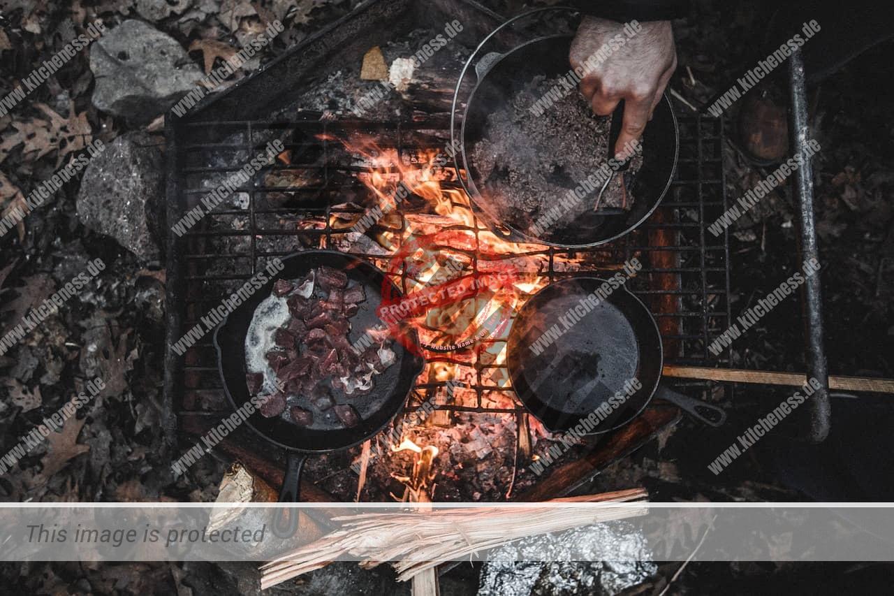 Mahlzeiten beim Camping